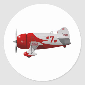"Granville Brothers Aircraft  ""Gee Bee R-1"" Classic Round Sticker"