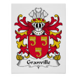Granville Family Crest Posters