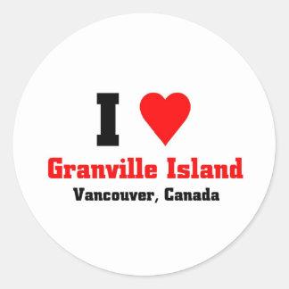 Granville Island, Canada Round Stickers