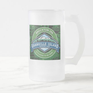 Granville Island Frosted Glass Beer Mug