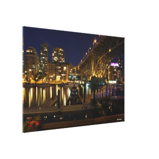 Granville Island View Wrapped Canvas Canvas Print