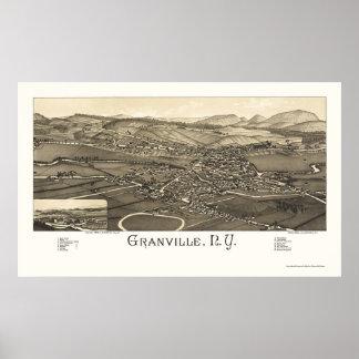 Granville, mapa panorámico de NY - 1886 Impresiones
