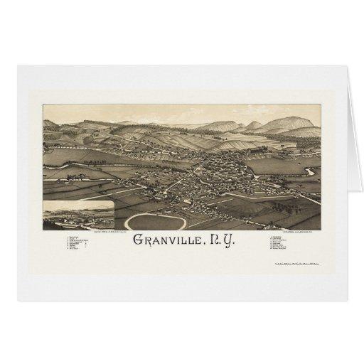 Granville, mapa panorámico de NY - 1886 Tarjeta De Felicitación