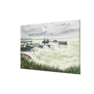 Granville, Sea Effect, 1936 Canvas Print