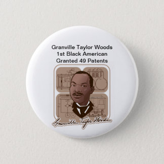 Granville T Woods Products w/ Text & Photo #600 Button