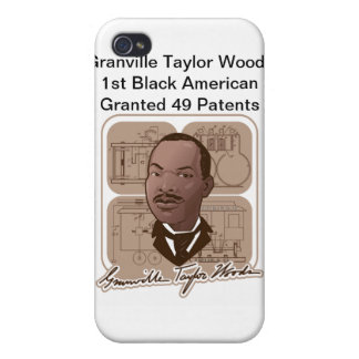 Granville T Woods Products w/ Text & Photo #600 iPhone 4/4S Cover