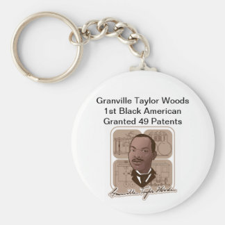 Granville T Woods Products w/ Text & Photo #600 Keychain