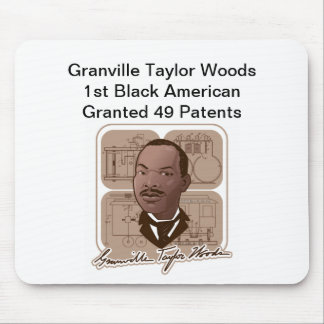 Granville T Woods Products w/ Text & Photo #600 Mouse Pad