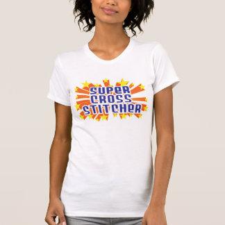 Grapadora cruzada estupenda camiseta