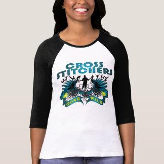 Grapadoras cruzadas idas salvajes camiseta