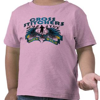 Grapadoras cruzadas idas salvajes camisetas