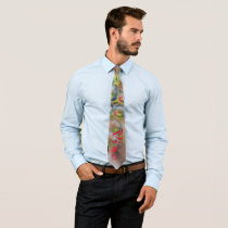 Grape Abstract Art Neck Tie