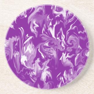 Grape and white -mixed design- C- Sandstone Coaster