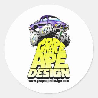 Grape Ape Design Classic Round Sticker