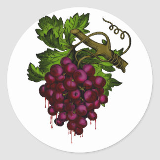 Grape Bunch Dripping Blood Sticker