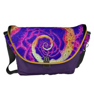 Grape Candy Swirl Messenger Bag