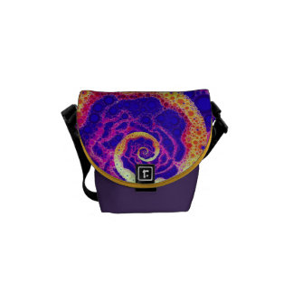 Grape Candy Swirl Small Messenger Bag