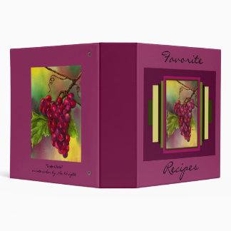 Grape Cluster Recipe Book Binder