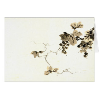 Grape Clusters 1800 Greeting Card