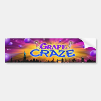 Grape Craze bumper sticker Car Bumper Sticker
