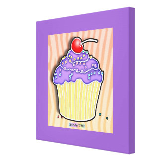 Grape Cupcake Gallery Wrapped Canvas