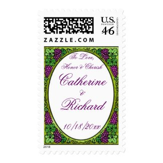 Grape Delight Wedding stamp