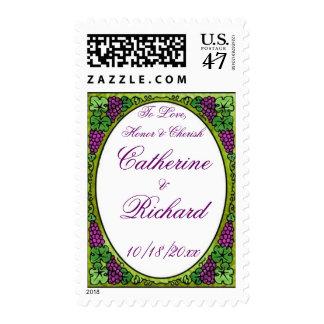 Grape Delight Wedding Postage Stamp