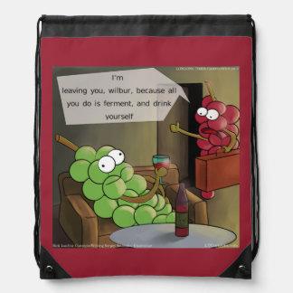 Grape Divorce Funny Drawstring Backpack