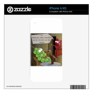Grape Divorces Funny Decal For The iPhone 4
