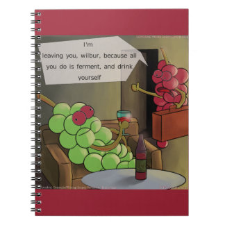 Grape Divorces Funny Spiral Notebook