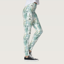 Grape Fable Pattern Leggings