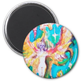 GRAPE FAIRY TALE 2 INCH ROUND MAGNET