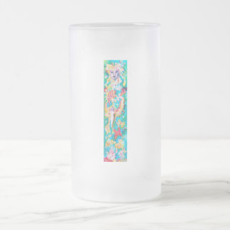 GRAPE FAIRY TALE FROSTED GLASS BEER MUG