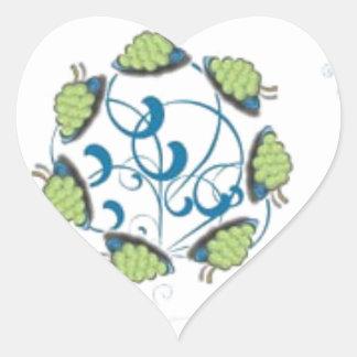 Grape fantasy heart sticker