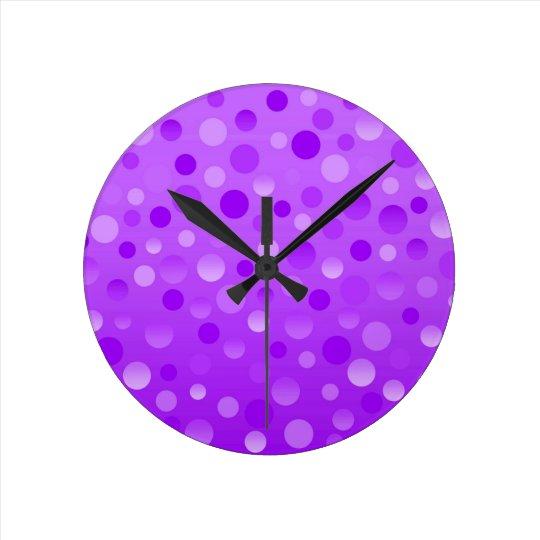 Grape Fizz clock round