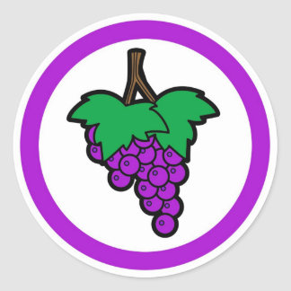 Grape flavor circle sticker labels