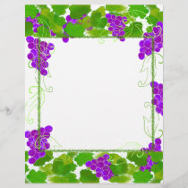 Grape Frame Stationery