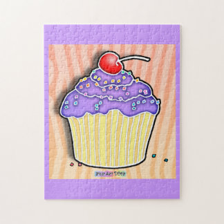 Grape Frosted Cupcake Puzzle