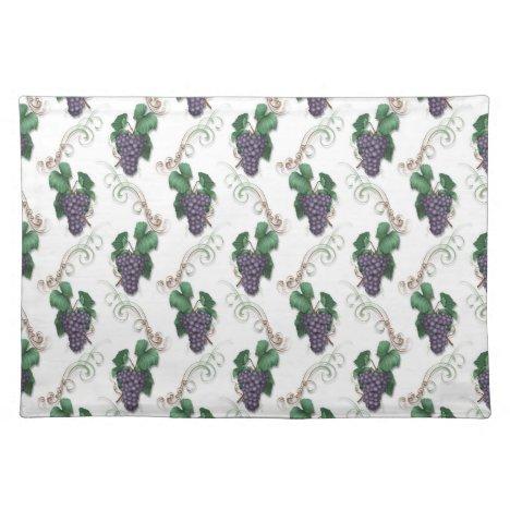 Grape fruit pattern kitchen place mat