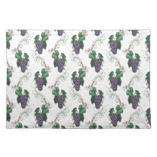 Grape fruit pattern kitchen place mat cloth placemat