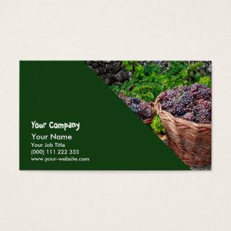 Grape harvest business card