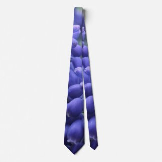 Grape Hyacinth Blooms 2016 Neck Tie