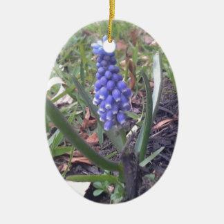 Grape Hyacinth Blossom Photography Ceramic Ornament