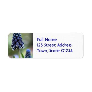 Grape Hyacinth Flower Mailing Labels