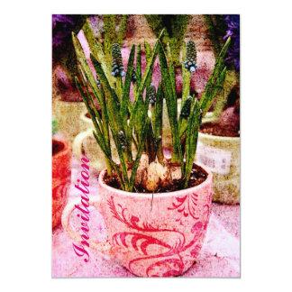 grape hyacinth spring dinner/brunch invitation