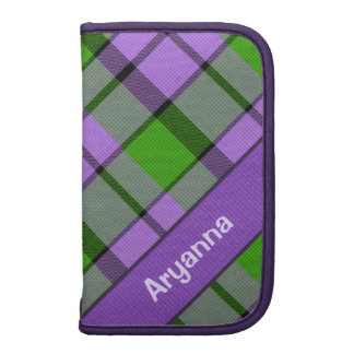 Grape Jelly Plaid Planner (with name)