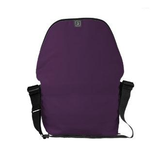 GRAPE JUICE (a solid deep purple color) ~ Small Messenger Bag