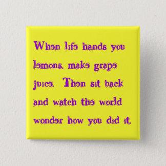 grape juice pinback button