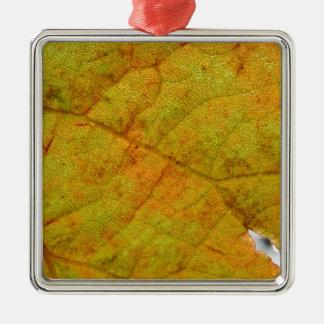 Grape Leaf Underside Metal Ornament