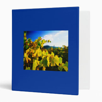 Grape Leaves and the Sky 3 Ring Binders